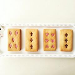 トランプ/クッキー/チョコサンド トランプ風チョコサンドクッキー。 スペー…