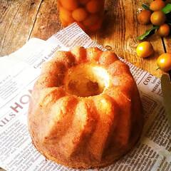 金柑/クグロフ/バターケーキ 年末に作っておいた庭の金柑の甘露煮は、ま…