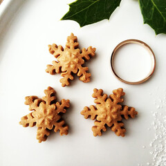 クッキー/雪の結晶/リミアな暮らし サクサクとした雪の結晶クッキー。 フォン…
