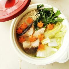 味噌/秋鮭/鍋 創味シャンタン・味噌・バターを使ってスー…