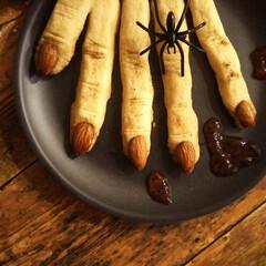 クッキー/ハロウィン/アーモンド/シナモン ハロウィンと言えば、魔女の指クッキー! …