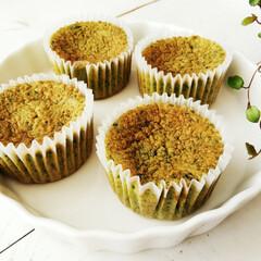 ほうれん草/カップケーキ/甘党大集合 ほうれん草を20%配合したカップケーキを…