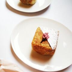 桜/パイ/桜餡 お茶のお供に桜餡のパイを焼きました。 型…