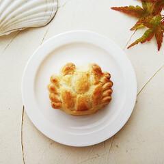 カニ/チーズ饅頭/秋 最近手にいれた押し型で、ぷっくりと丸みを…