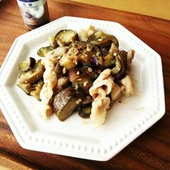 はらぺこグルメ/花椒/味噌炒め/なす なすと豚肉の味噌炒めに、粗めに挽いた花椒…