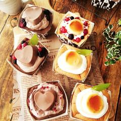 シフォンケーキ/プリン/クリーム カップシフォンケーキを焼いたら必ず生クリ…
