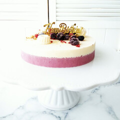 誕生日ケーキ/アイスケーキ/リミアな暮らし 実は少し前に誕生日を迎えましたので、アイ…(1枚目)