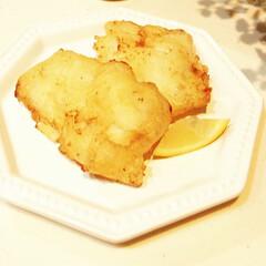 白身魚/フライ/天ぷら 少し前に載せた「りんごの天ぷら」と同じ衣…