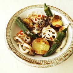 ハニーマスタード/温野菜/秋野菜/食欲の秋 地元産の野菜を蒸して、ひとつ前の写真の説…