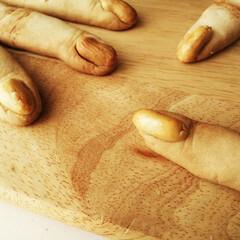 魔女の指クッキー/クッキー/ピーナッツ/ハロウィン2019 魔女の指クッキー! 右下のクッキーは特に…