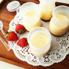 プリン/アーモンドミルク/おやつ 牛乳を切らしてしまったのですがどうしても…