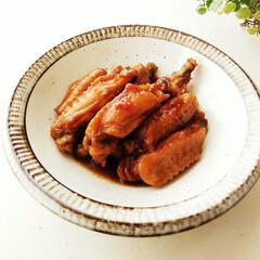 手羽/マーマレード/チキン フライパンに材料を全部いれて10分火にか…