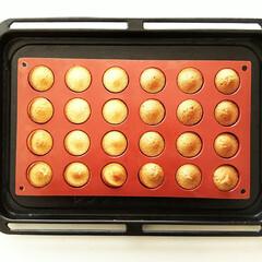 フィナンシェ/ポンポネット/シリコン型/お菓子/焼き菓子 ひと口大のケーキが焼ける、シリコンフレッ…