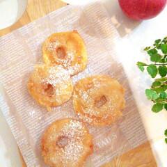 りんご/天ぷら/サクサク りんごの天ぷらを作りました。 名前だけ聞…