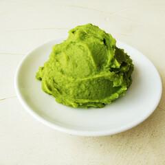 グリーンピース/うぐいす餡/令和元年フォト投稿キャンペーン グリーンピースで、鮮やかな明るい緑色がき…