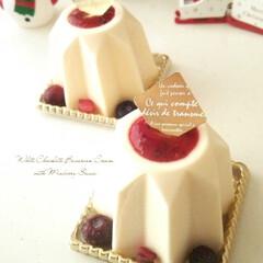 クリスマス/ホワイトチョコレート/ベリー ホワイトチョコレートを使ったババロアです…