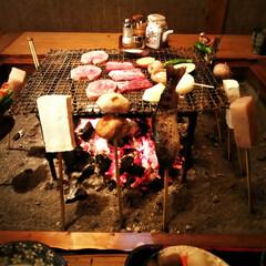 田楽/阿蘇/炭火焼き お昼に田楽を食べました。 お味噌や野菜、…