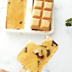 森永製菓 純ココア 110g×3個(カクテル)を使ったクチコミ「ココアクッキー入りキャラメルアイスバーの…」