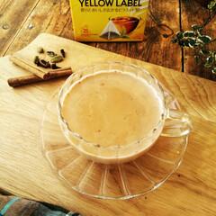 紅茶/チャイ/スパイス リプトンのイエローラベルティーでチャイを…