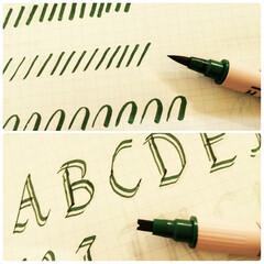 カリグラフィー/ペン/マーカー 最近カリグラフィーを体験する機会があり、…