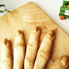 魔女の指クッキー/クッキー/マクロビ/ハロウィン2019 先日載せた魔女の指クッキーを、手に見える…