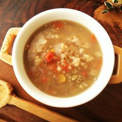 スープ/雑穀/コンソメ 寒い日の朝は、温かいスープがぴったり。 …