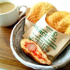 ごはん/朝食/たい焼き ウインナー・ケチャップ・チーズを中にいれ…