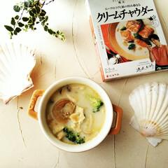 ほたて/ブロッコリー/スープ 昨日の夕飯の一品は、ホタテとブロッコリー…