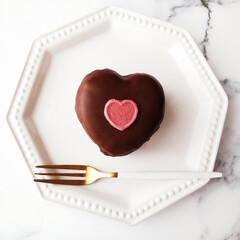 チョコパイ/ハート/バレンタインデー ハートのチョコパイ。 ボリューミーですが…