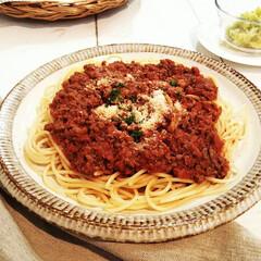 スパイス/ボロネーゼ/パスタ/キャベツ/春のフォト投稿キャンペーン/わたしのごはん 今日の夕食は簡単に、ボロネーゼとキャベツ…