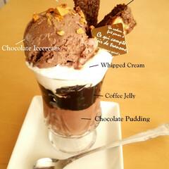 パフェ/コーヒーゼリー/ブラウニー/チョコレート/アイスクリーム 私の好きなものばかりをトッピングした、コ…