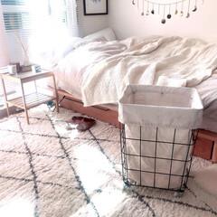 洗濯カゴ/ワンルームインテリア/洗濯/ラグ/ベッド
