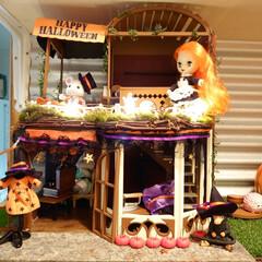 石畳/塗装/スチレンボード/飾り付け/インテリア/ハロウィン/... Halloweenドールハウス プチブラ…(1枚目)