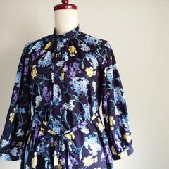 横浜縫製/カゴショルダーバッグ/横浜/ファッションアイディア/ファッション/150cmコーデ/... 浴衣に負けないインパクトのある花柄のシャ…(1枚目)