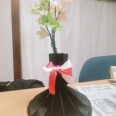花束/折り紙バラ/おりがみ/ORIGAMI/折り紙お花/飾り/... 色画用紙&折り紙 お花    花瓶   …