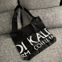 レジ袋/モノトーン/kaldi/節約/エコバッグ/簡単/... エコバッグ   売り切れで無かったKAL…