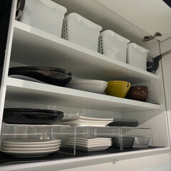 イッタラ カステヘルミ プレート 17cm ライトブルー IITTALA 5863 | イッタラ(皿)を使ったクチコミ「お皿収納②    こちらはよく使うお皿を…」