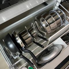 T-fal インジニオ ネオ IHステンレス エクセレンスセット9 ティファール   ティファール(圧力鍋)を使ったクチコミ「ティファール🍳    我が家のフライパン…」(1枚目)