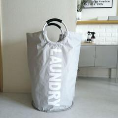 大容量ランドリーバッグ防水ランドリーバスケット折りたたみ式洗濯ボックス耐久性収納袋 洗濯かご耐荷重15kg(アクセサリーケース)を使ったクチコミ「.。*♡(ランドリーバスケット♡*。. …」