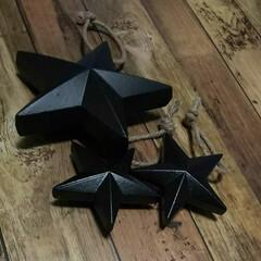 男前雑貨/星型/ウッドオーナメント/オーナメント/雑貨屋さん/雑貨/... ふらりと立ち寄った雑貨屋さんで 星型のウ…