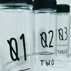 見せる収納/収納ボトル/ウォーターボトル/キッチン雑貨/100均/キャンドゥ/... 並べて置きたくなるボトルは 100均キャ…