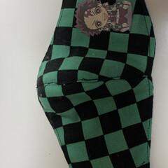 マスク マスク作ってみました😷派手な布しかなかっ…(7枚目)