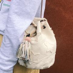 キャンバスバッグ/星柄/巾着バッグ/バッグ/ハンドメイド my bag **    一年前の写真。…