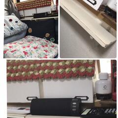 壁掛けシェルフを使い快適に 枕元の所にシェルフ棚横に2枚ピンで📌設置…