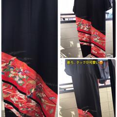 留袖ドレス 朝から日差しが暑い😵💦 天気予報では午前…(1枚目)