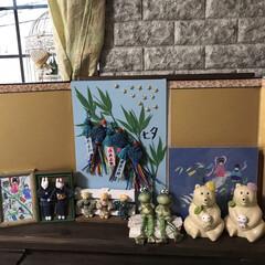 七夕飾り🎋/ハンドメイド 2ヶ月前に季節ものを飾るコーナーに七夕飾…(2枚目)