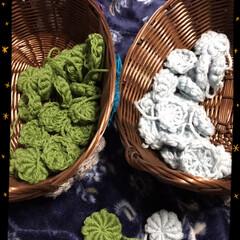 大きいサイズのコイル編み1日目 1日目3玉、さすがに大きさが大きいので時…