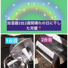 加湿器洗って乾燥 加湿器は分解して洗って2台太陽の日差し🌞…(1枚目)