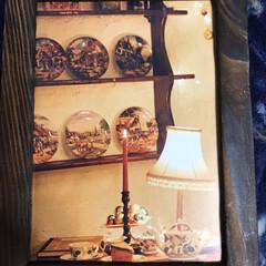 古いカレンダーをフレームに❣️/100均フレーム 古いカレンダーの素敵な一部カットして焼き…