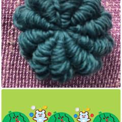 色んな編み方/コイル編み これがたった一個教わったコイル編みデス❣…